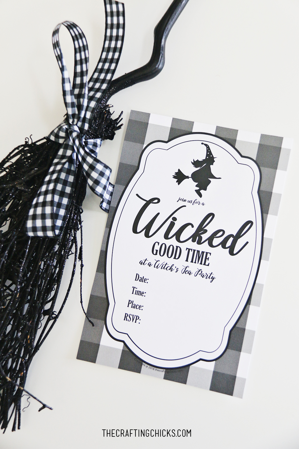 image regarding Tea Party Printable named Witch Tea Social gathering No cost Printable Invite - The Writing Chicks