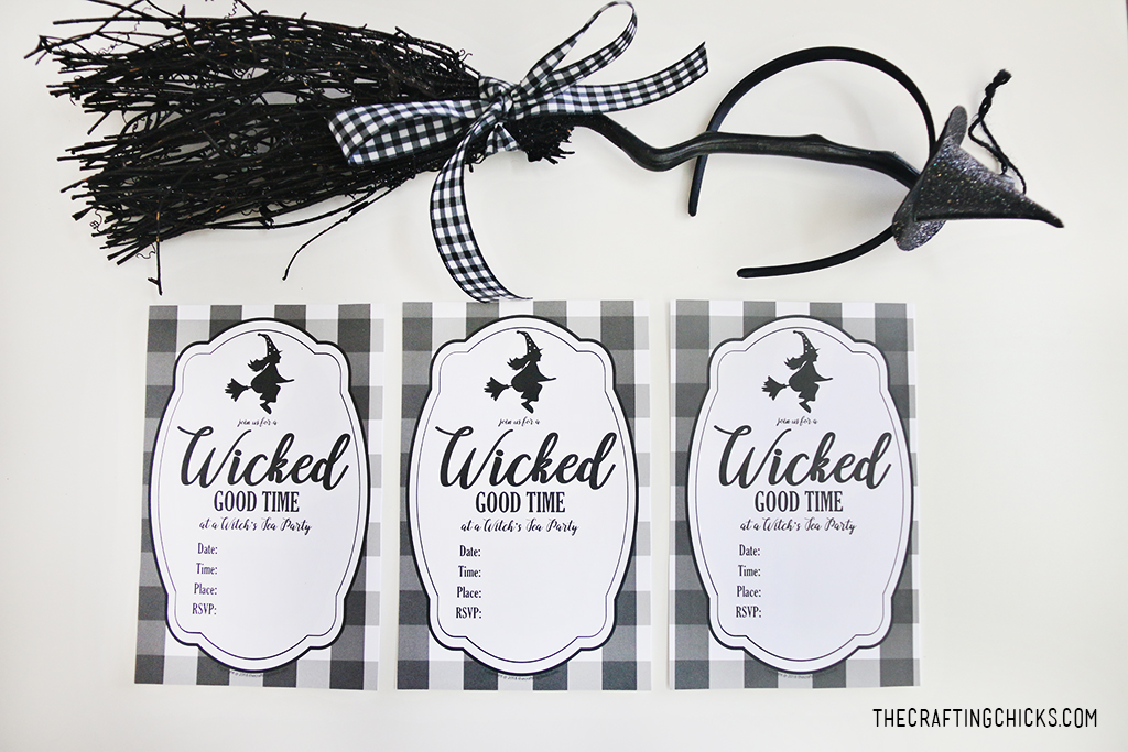Printable Witch Party Invite