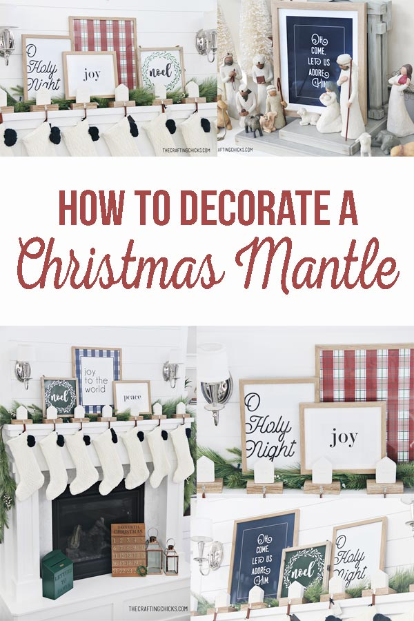 How to Decorate a Christmas Mantle