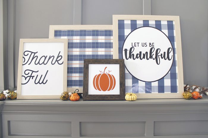 Thanksgiving Mantle Printables