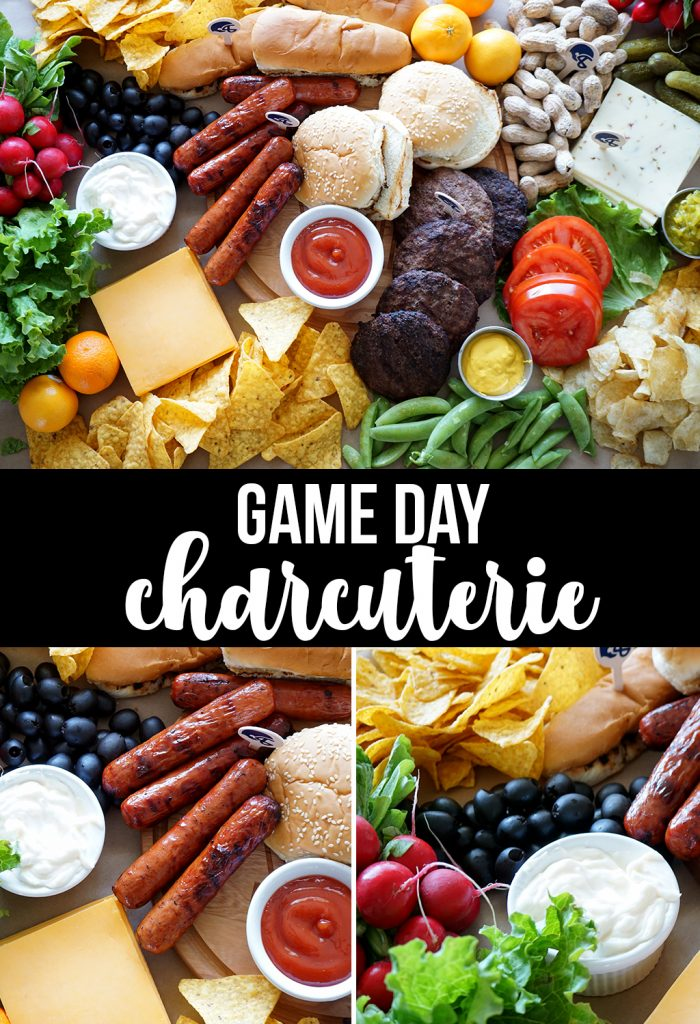 Game Day Charcuterie Board for Tailgating