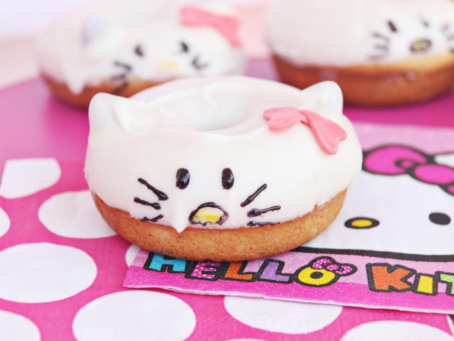 Hello Kitty Cake Donuts