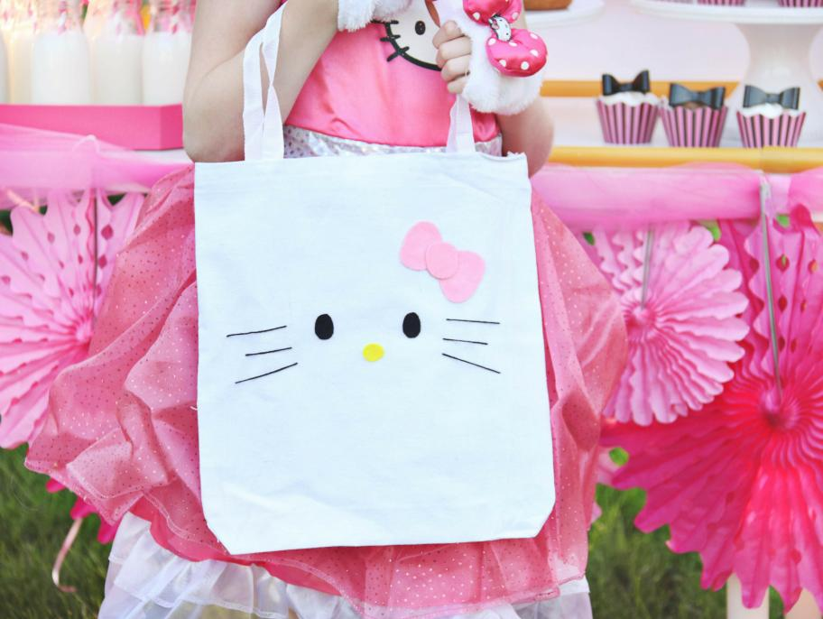 DIY Hello Kitty Canvas Tote
