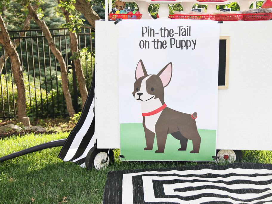 Pin the Tail on the Puppy Printable