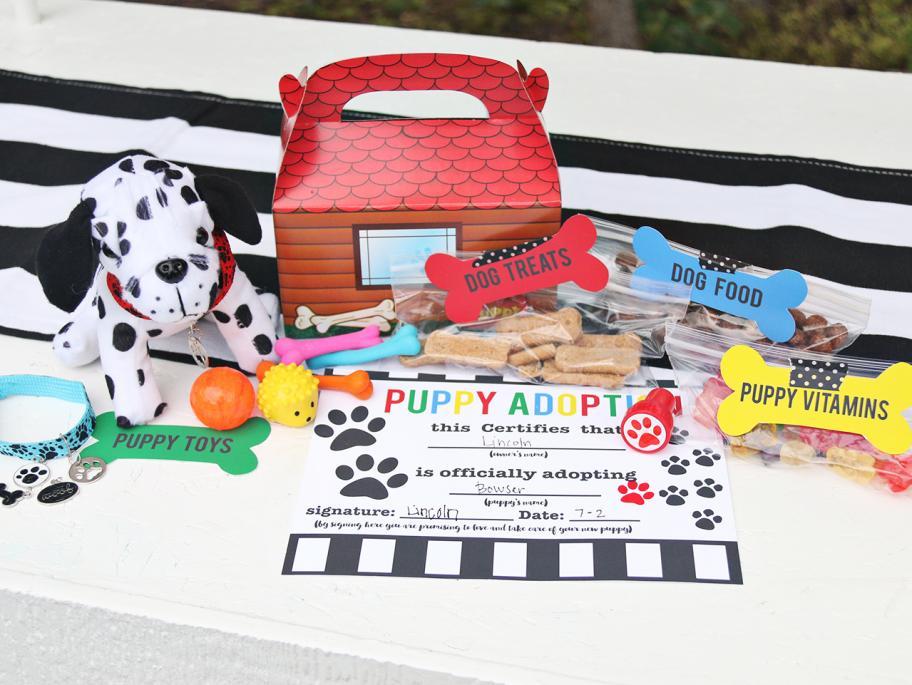Puppy Adoption Kit Printable