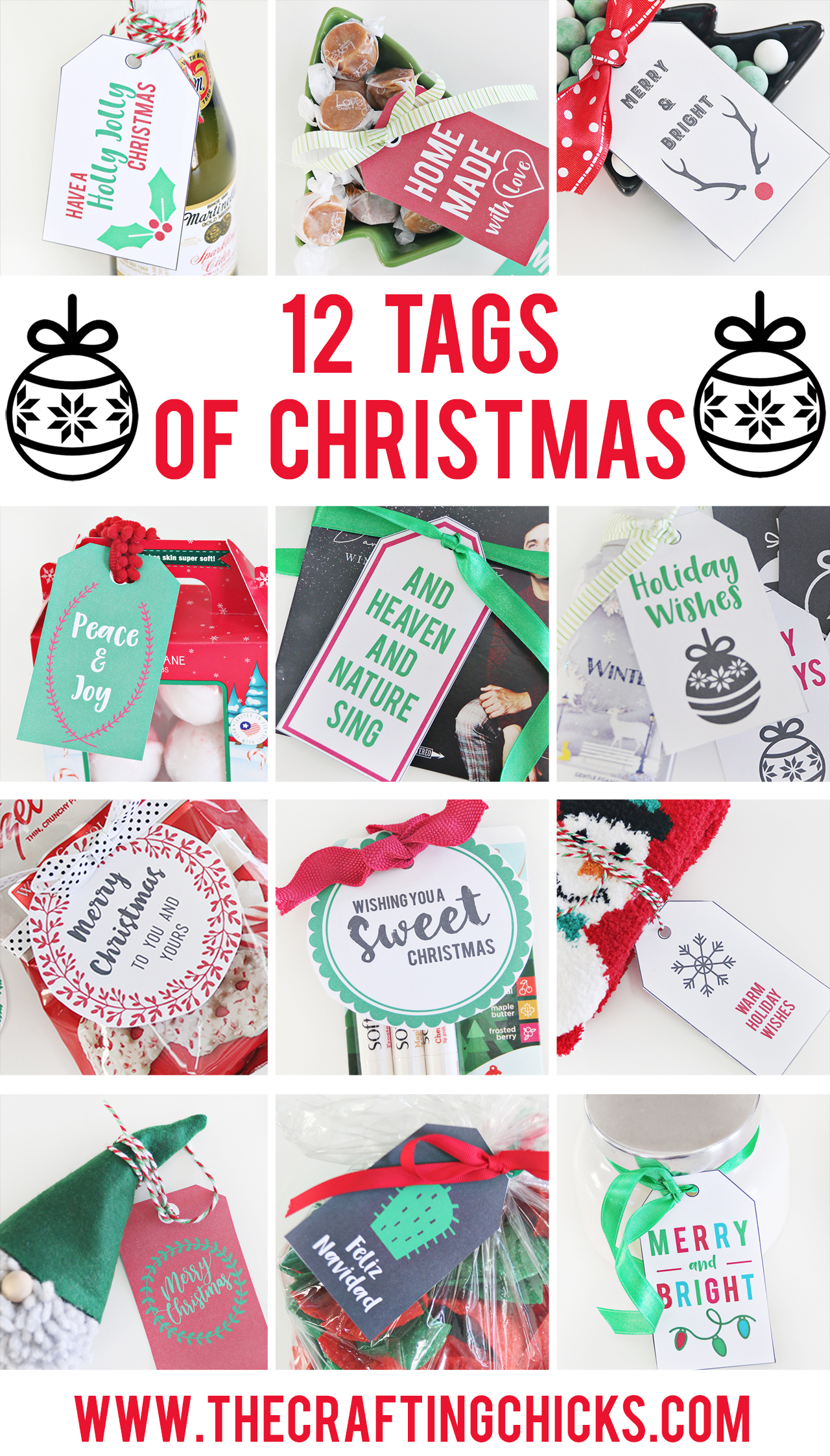 12 Christmas Tag Printables