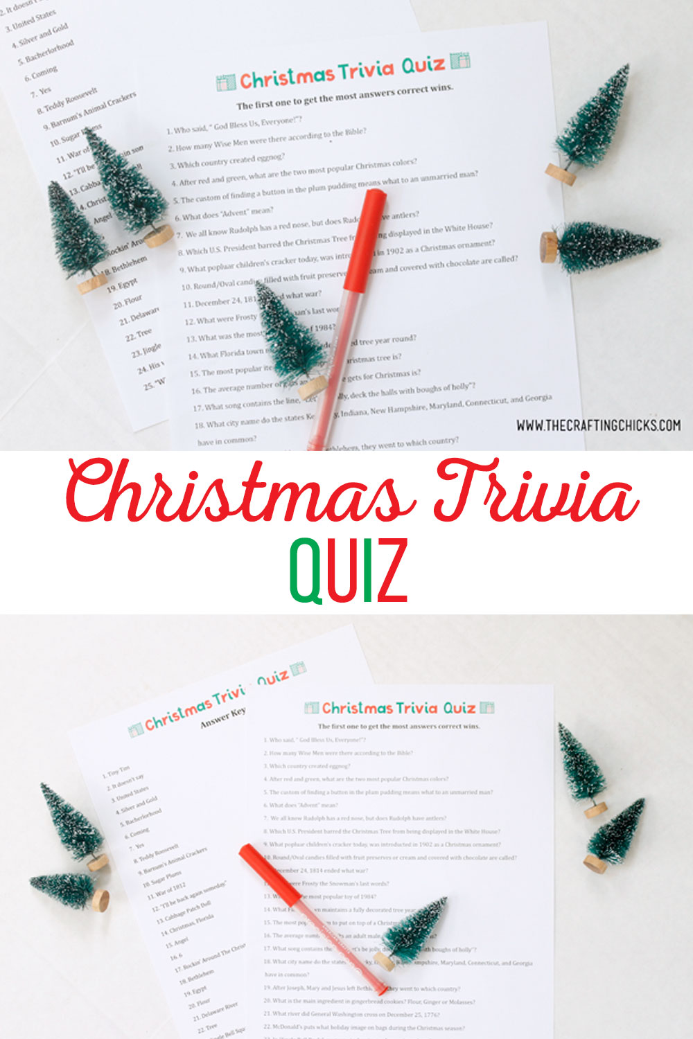 Christmas Trivia Quiz Free Printable