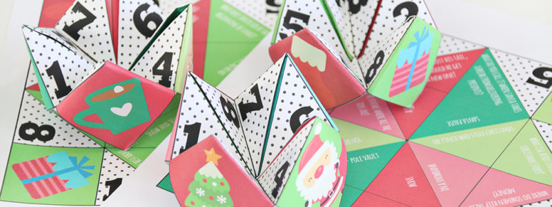 Printable Christmas Cootie Catchers