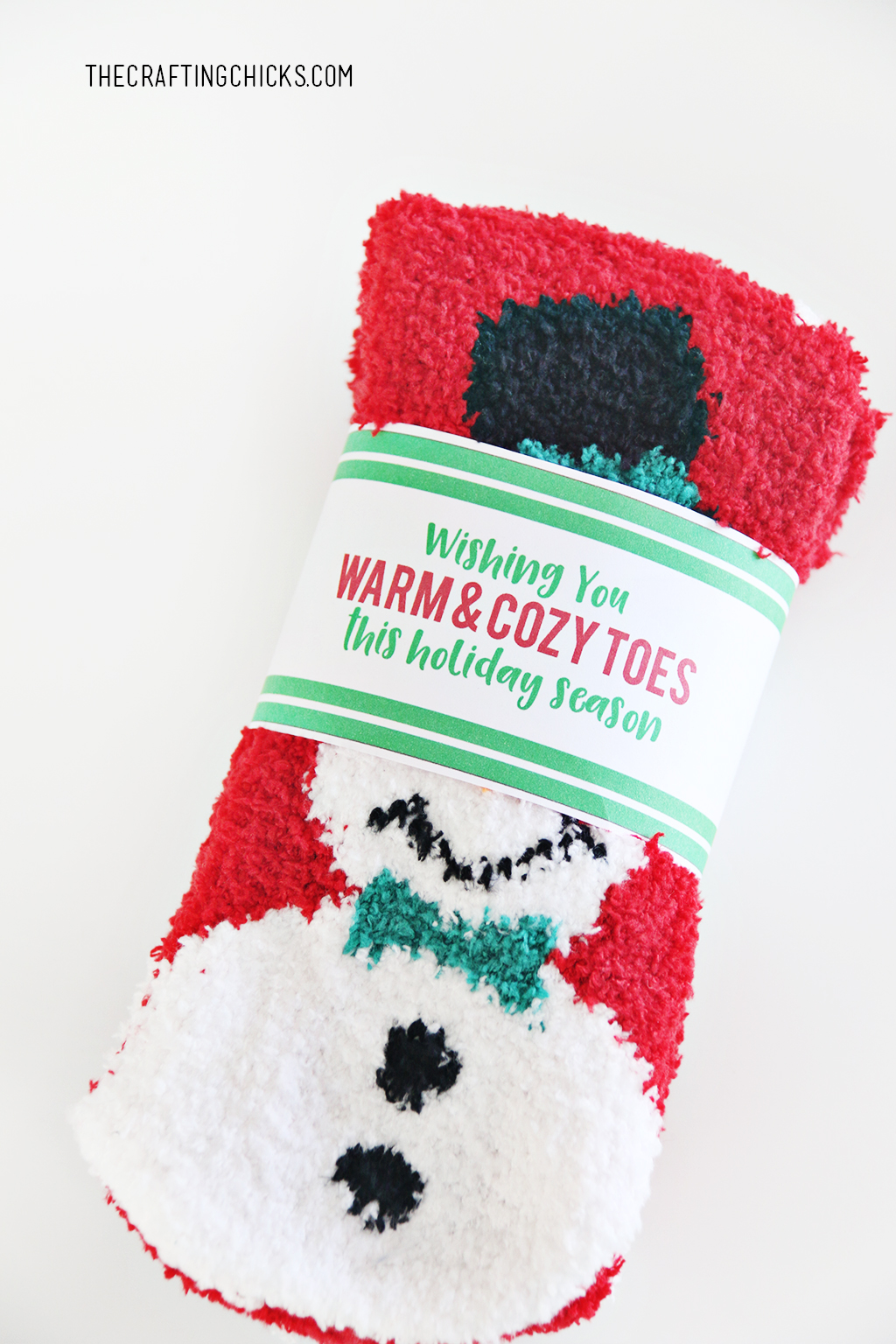 Cozy Christmas Sock and Free Printable Christmas Socks Gift Tag