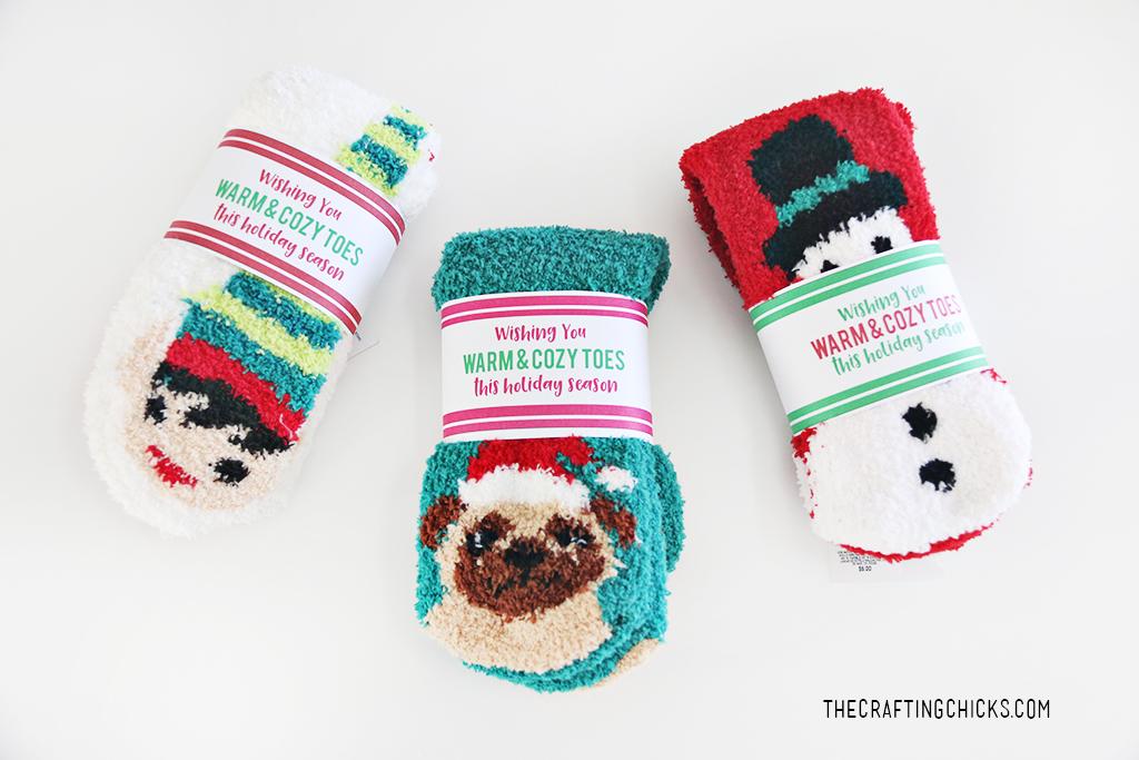 Free Printable Christmas Socks Gift Tag