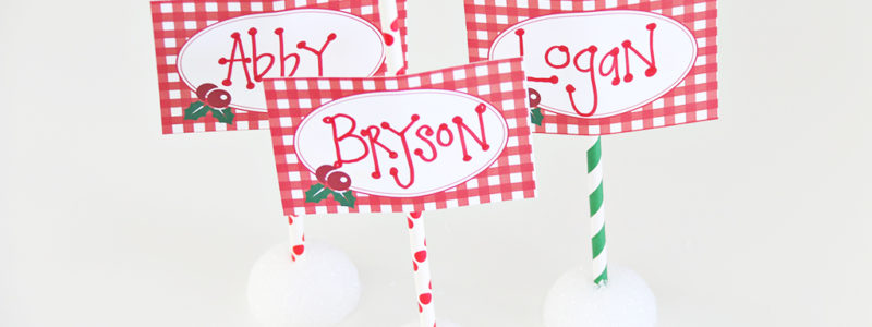 Dress up your Christmas table this year with these adorable free North Pole Place Card Printables. A fun and easy way to customize your tablescape for any holiday meal.