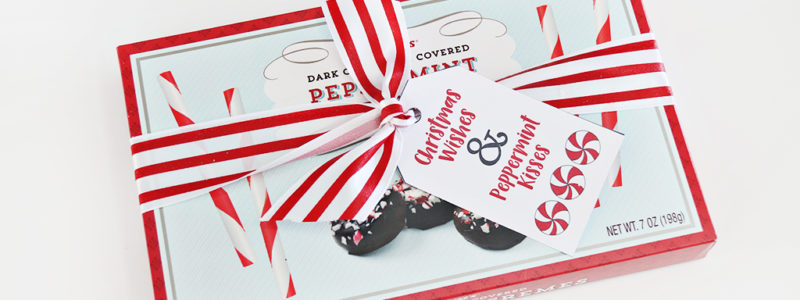 Peppermint Gift Tag Printable