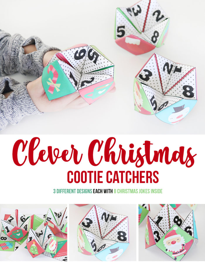 3 Christmas Cootie Catchers