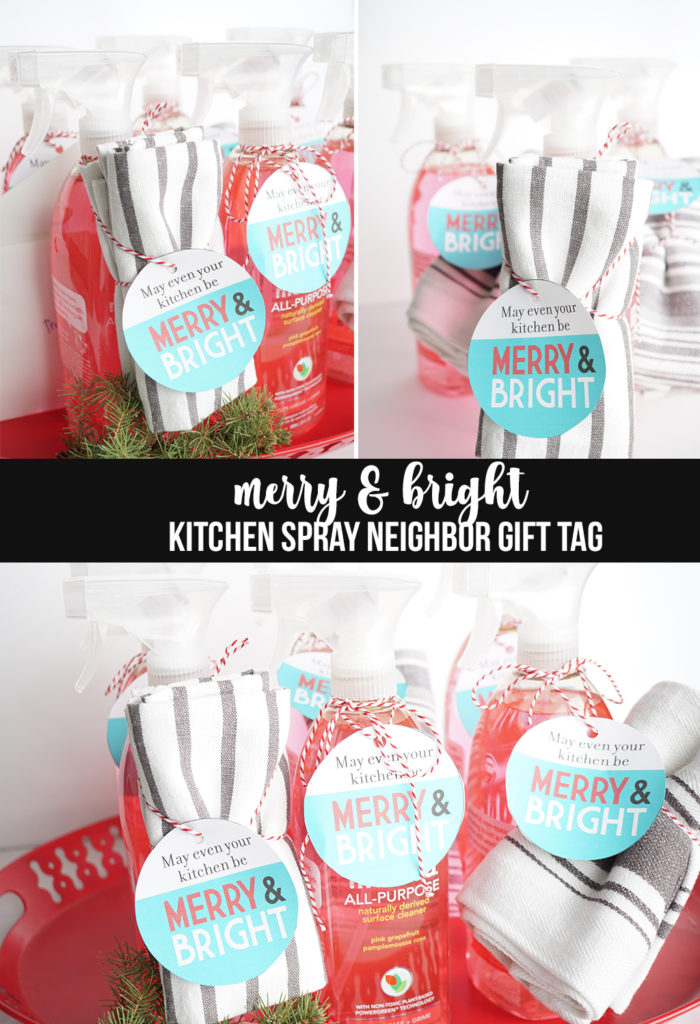 Merry and Bright Kitchen Spray Gift Tag