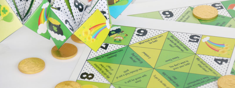 Silly St. Patrick's day Cootie Catchers