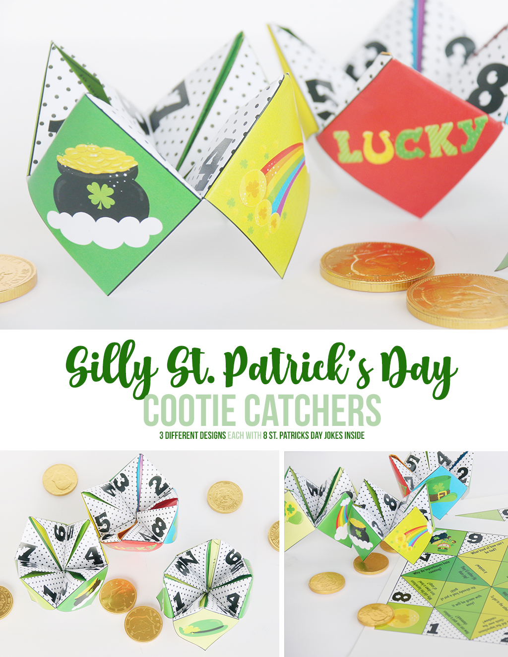 Silly St. Patrick's Day Cootie Catchers printables