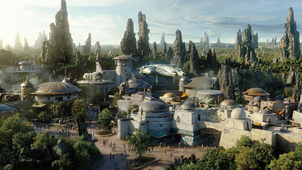 Artist rendering of Star Wars: Galaxy's Edge at Disneyland Resort