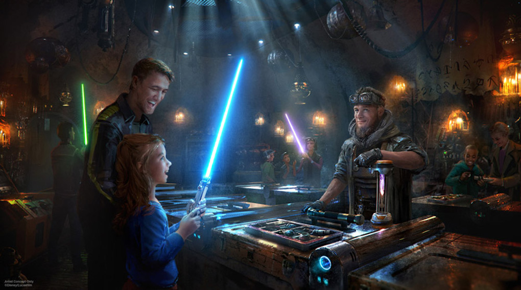 Artist concept of Star Wars: Rise of the Resistance at Disneyland Resort