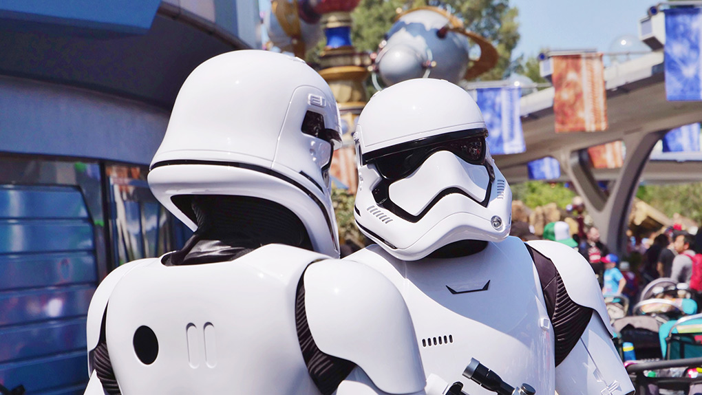 Storm Troopers at Oga's Cantina in Disneyland Resort