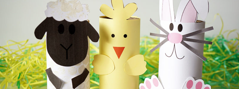 Easter Craft Roll Tubes