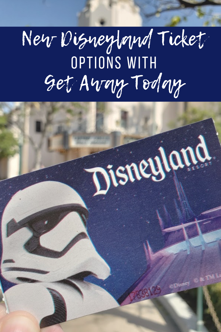 Ticket to Disneyland with Storm Trooper on it.