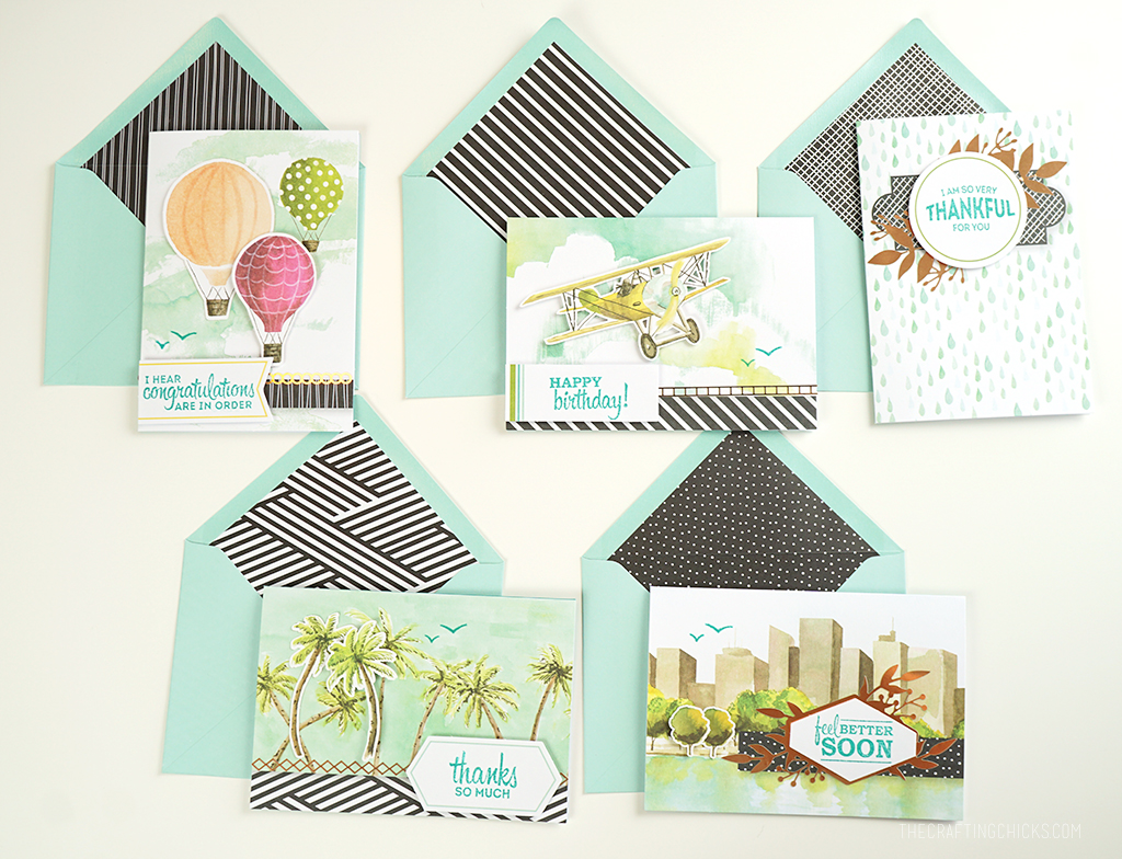 Create 15 handmade cards in 15 minutes - Looking Up Card Kit