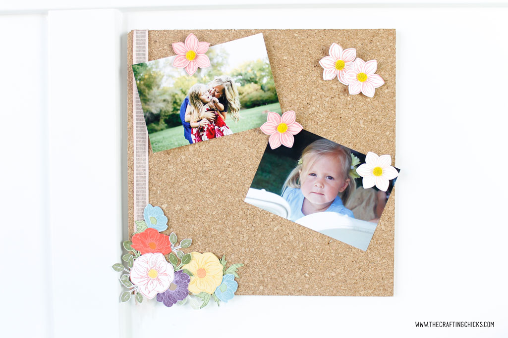DIY Floral Photo Cork Board
