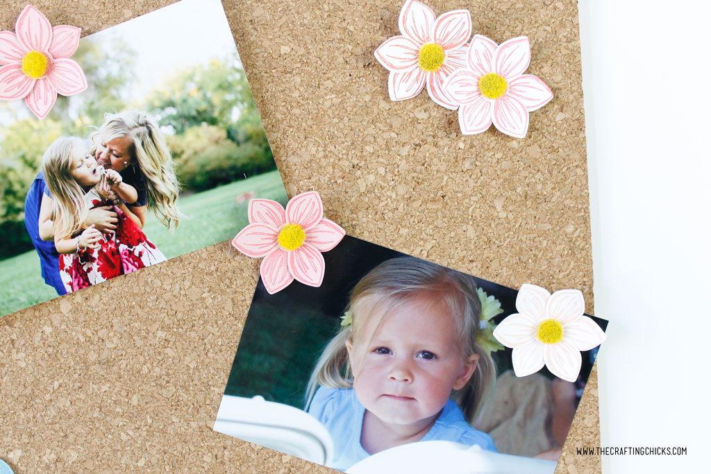 DIY Floral Cork Board with pictures