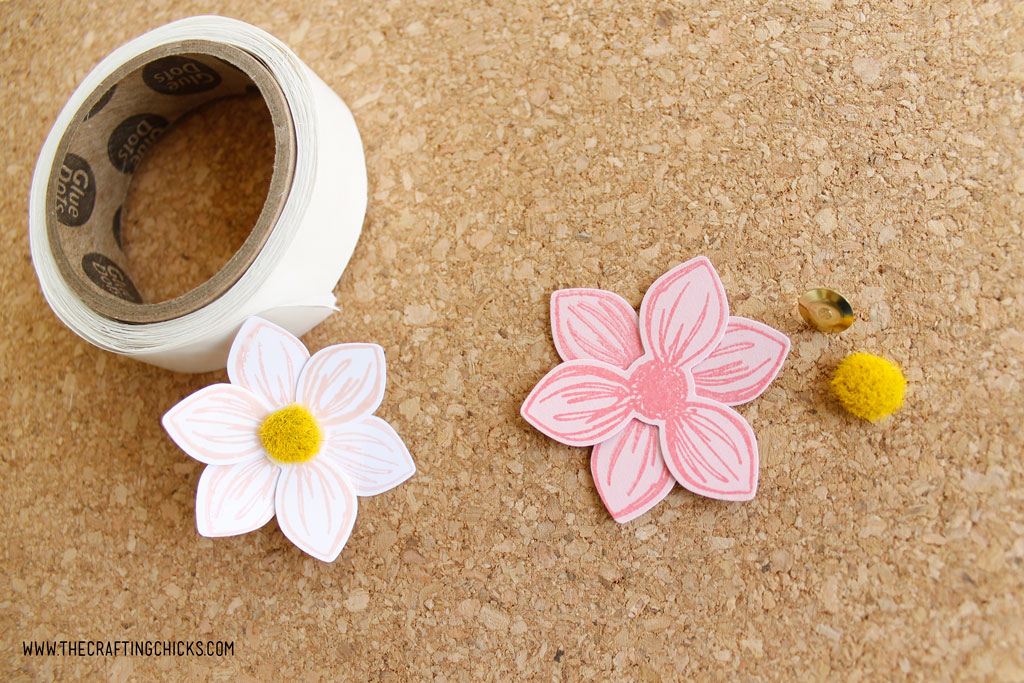 DIY Stamped floral push pins
