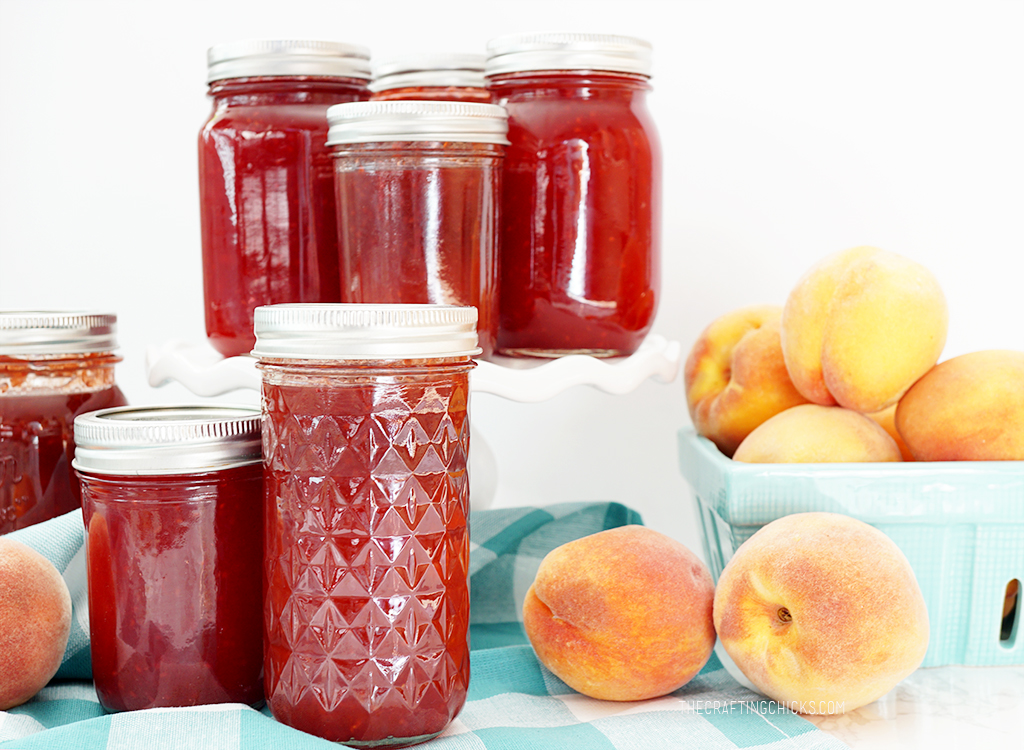 Easy Raspberry and Peach Jam