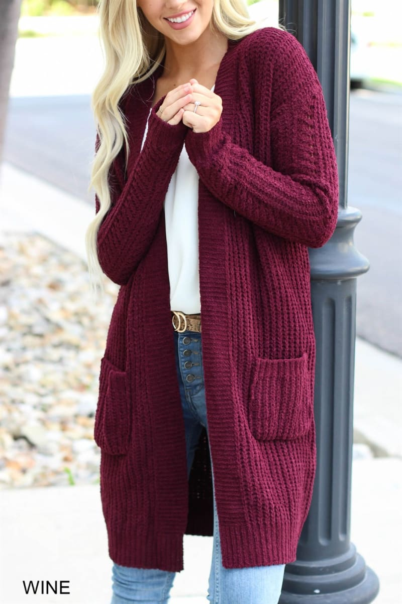 Cyrus Waffle Knitted Cardigan Fall Wardrobe Must Haves