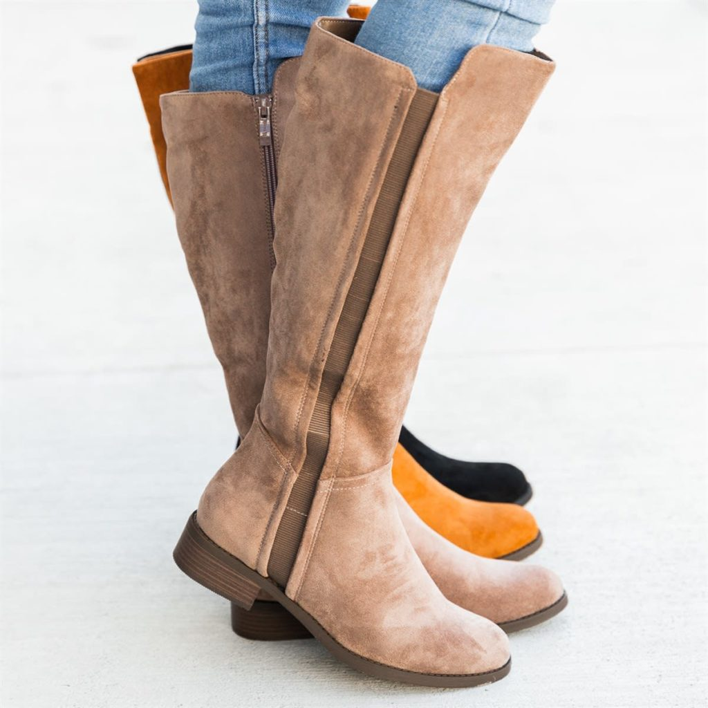 Brown knee-high boots for fall fashion