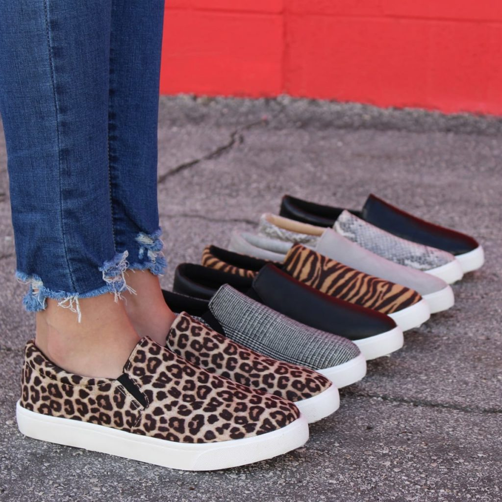 Slip on sneakers in 9 different color options.