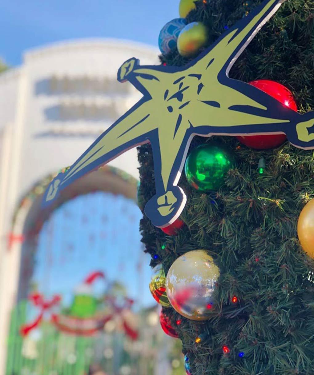 Christmas Tree at Universal Studios Hollywood