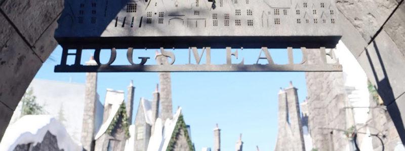 Holidays at Universal Studios Hollywood Hogwarts Holiday sign