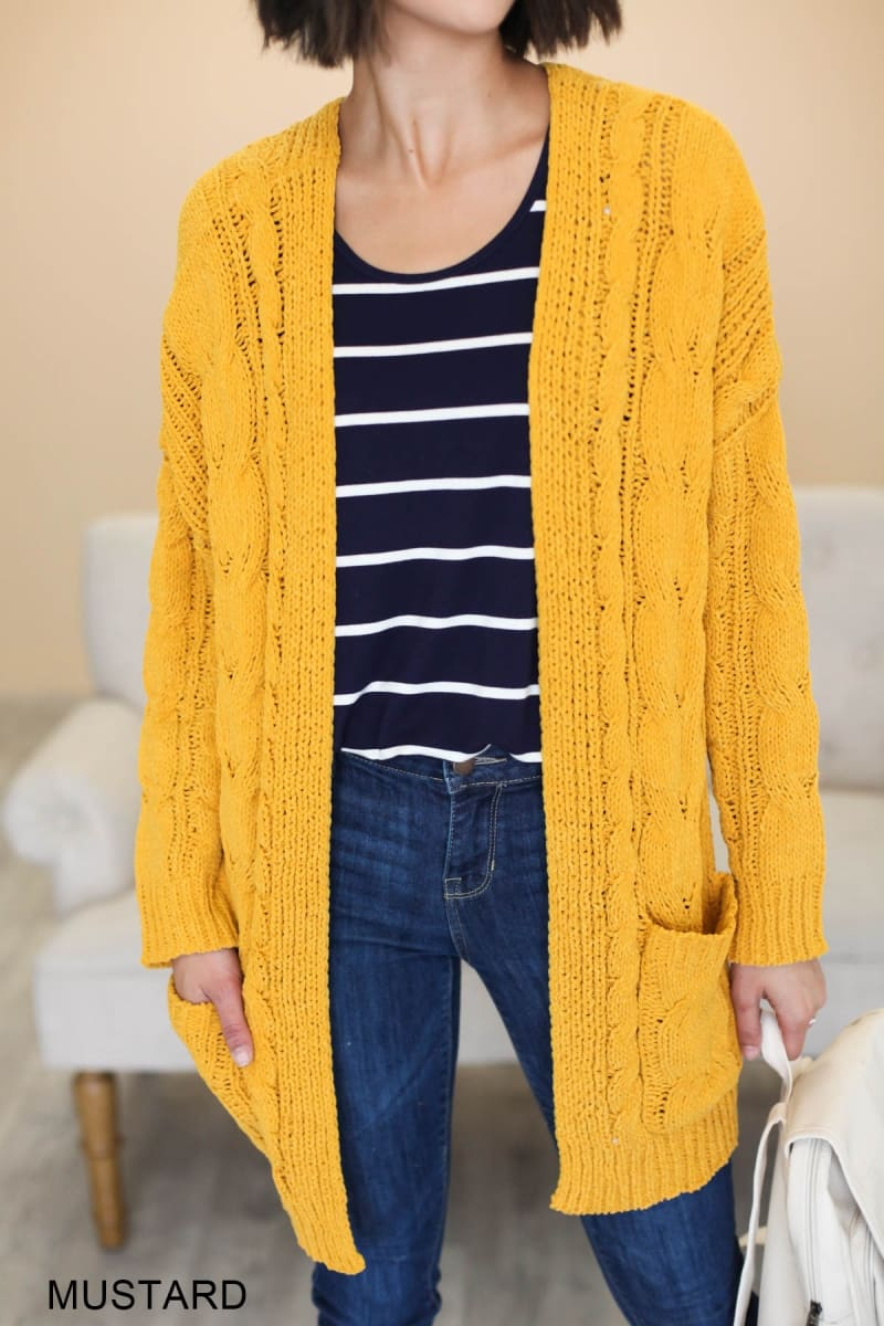 Neve Cozy Cardigan in yellow