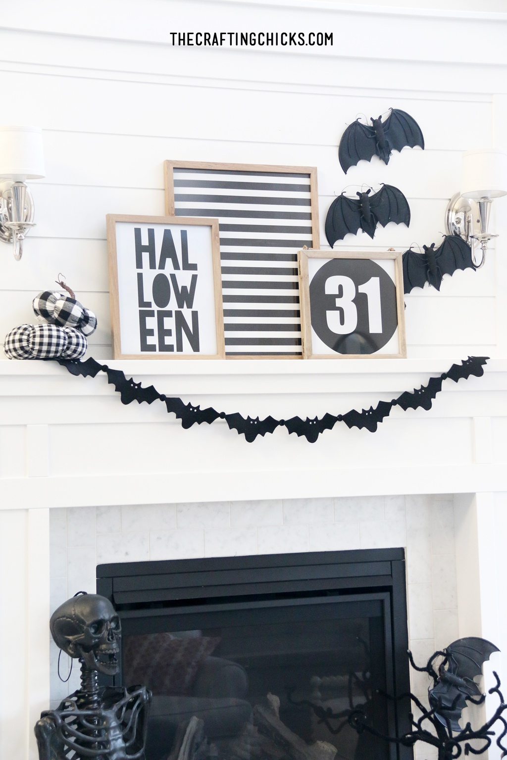 Halloween Mantle Home Decor Prints for a Halloween Display!