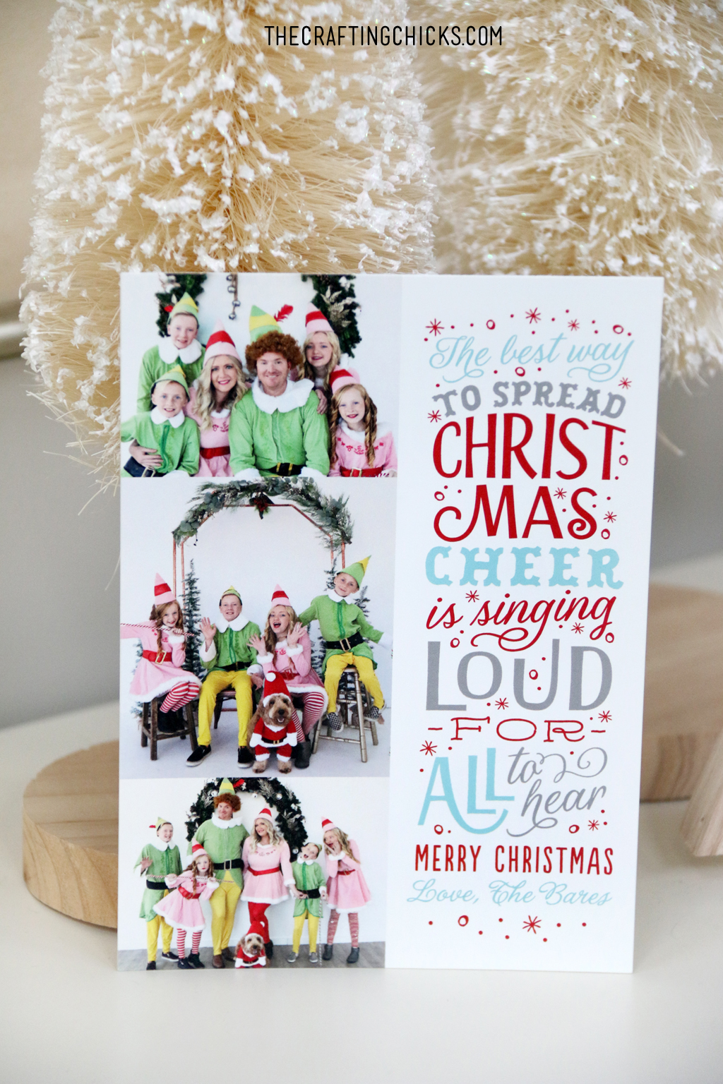 Send pictures of your kids to family and friends this year with a Holiday card.