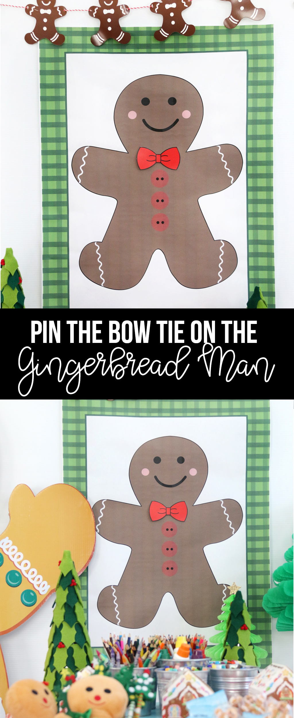 Pin the Bow Tie on the Gingerbread Man