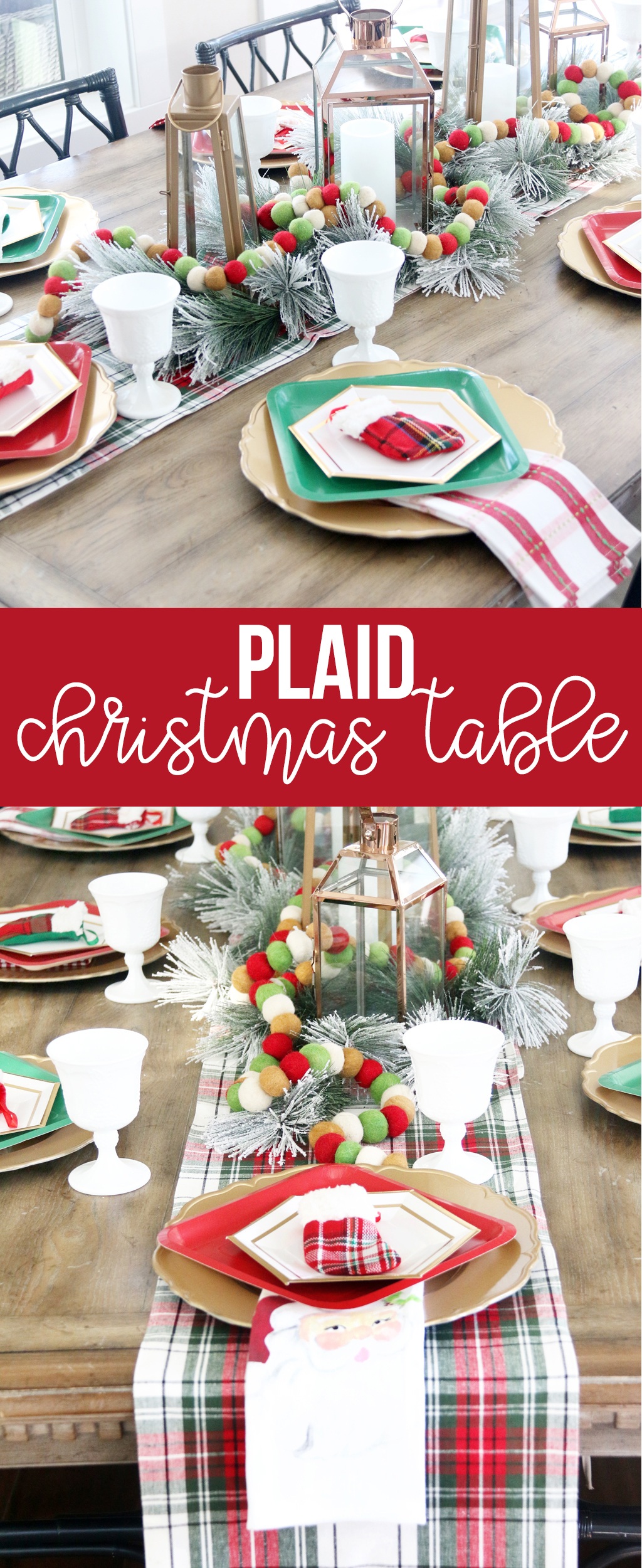 Plaid Christmas Table