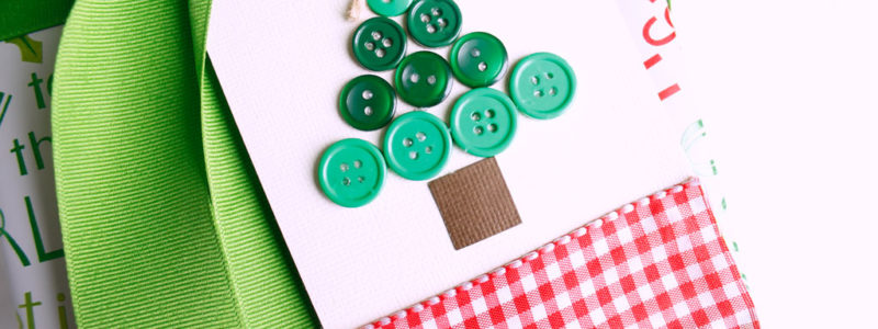 Button Christmas Tree Gift Tag