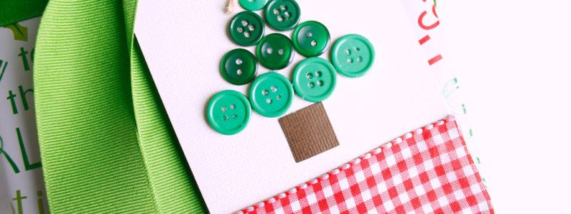 Button Christmas Tree Gift Tag