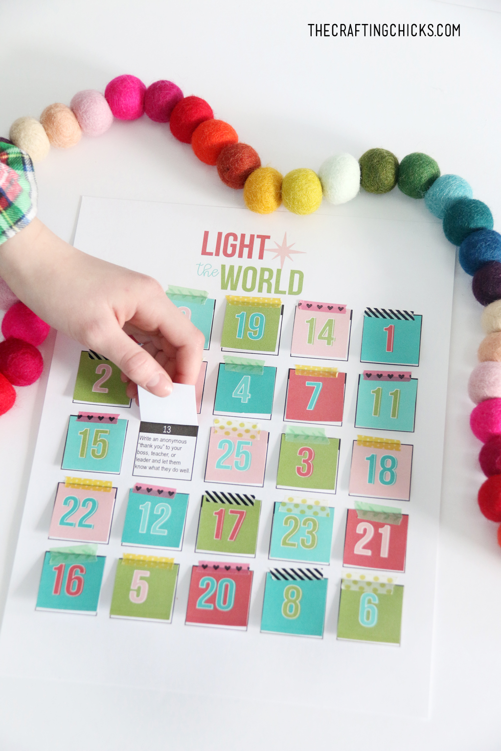 We put together this fun Light the World Advent printable to make it easy for you to do in your own home.