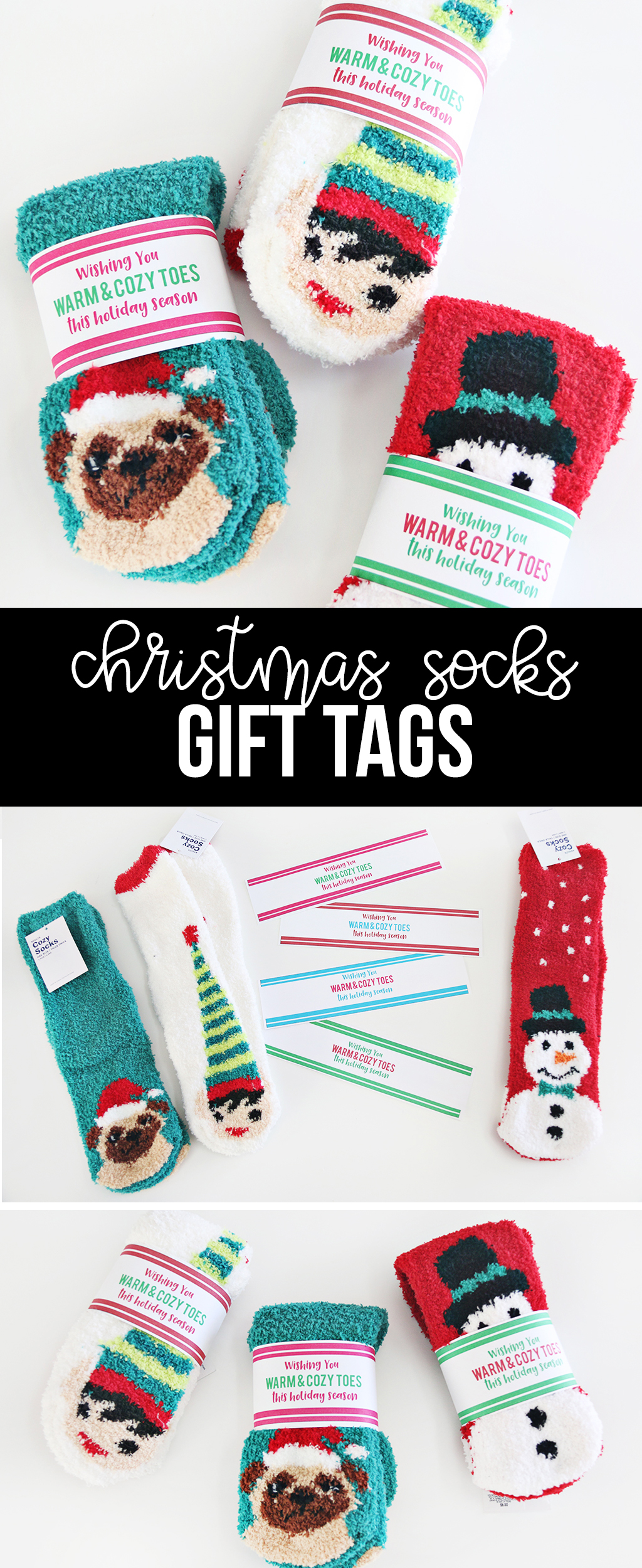 Christmas Socks Gift Tags
