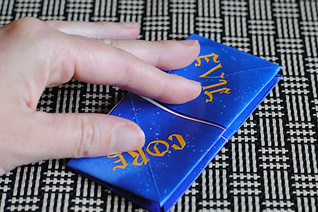 Descendants fortune teller printable folded in half to make a fortune teller.
