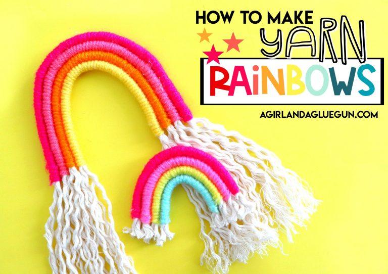 How to make yarn rainbows