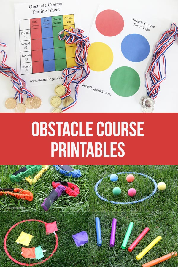 obstacle course printables