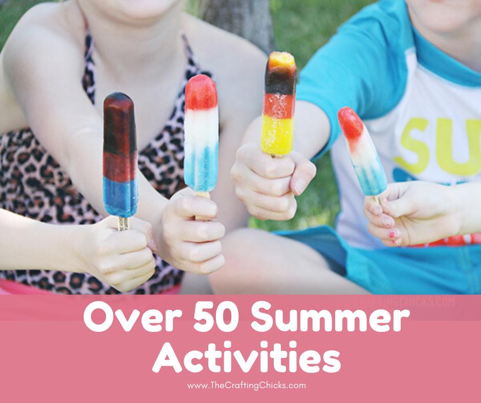 Kids holding popsicles