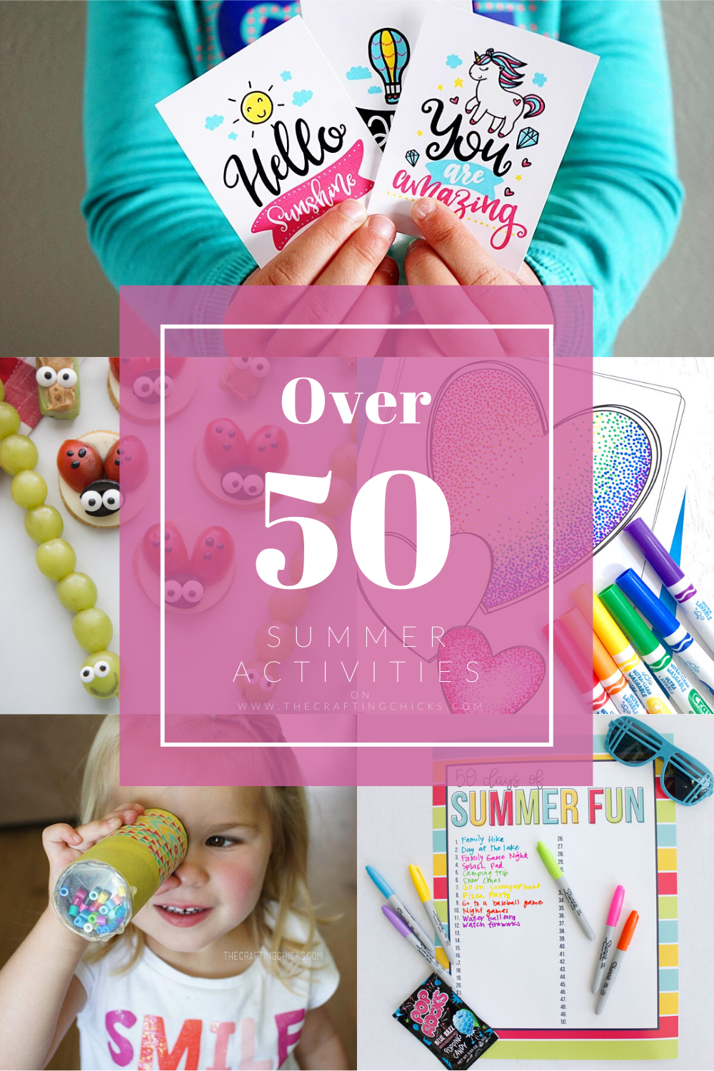 Collage for Over 50 Summer Activities
