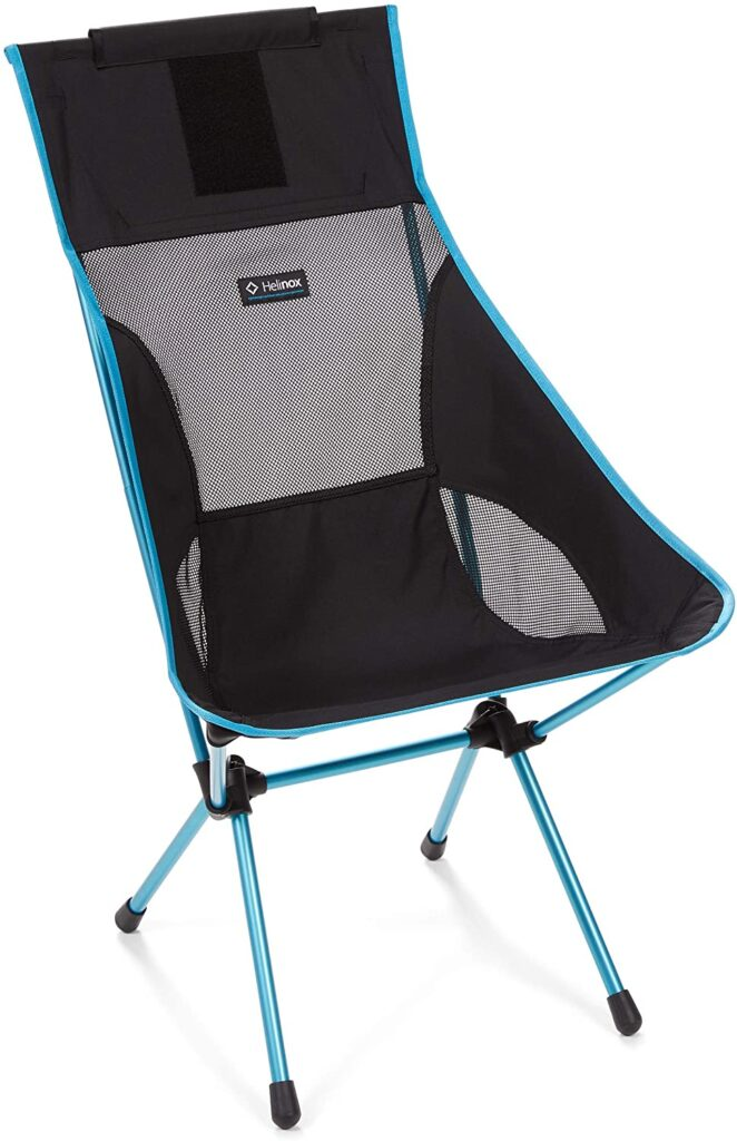 Helinox chair in black for sports moms must haves